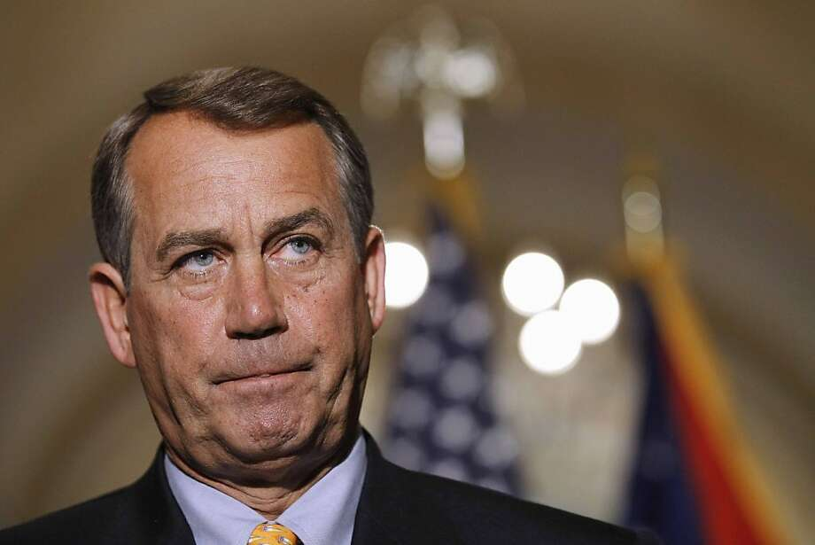 FILE - In this April 1, 2011, file photo House Speaker John Boehner of Ohio pauses during a news conference on Capitol Hill in Washington. President Barack Obama is summoning key lawmakers from both parties to the White House to help speed up budget negotiations and avoid a looming government shutdown at week's end. Photo: Alex Brandon, AP