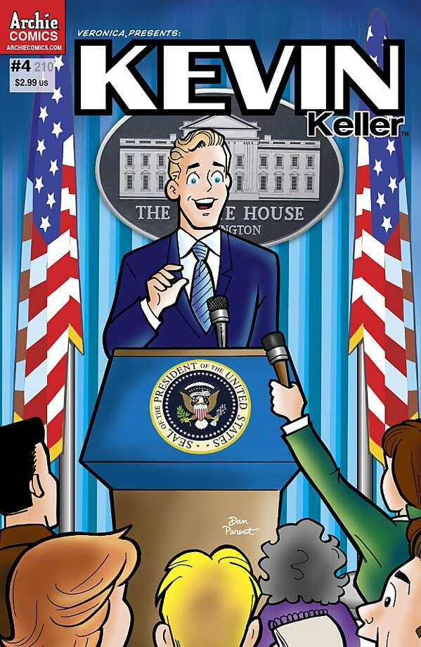 "In this comic book cover released by Archie Comics, gay character Kevin Keller is shown on the cover of the ""Veronica Presents: Kevin Keller,"" issue #4. After his first appearance in ""Veronica"" No. 202 caused Archie Comics to do a second printing forthe first time in its history, the company is giving its first openly-gay character Kevin Keller his own mini-series this summer. Photo: AP"