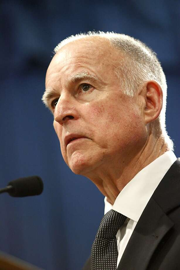 Jerry Brown, governor of California, speaks at a news conference after signing a bill to reduce the state's budget deficit by $14 billion at the State Capitol in Sacramento, California, U.S., on Thursday, March 24, 2011. Brown said he still has time to get a referendum on the ballot in June to extend $9.3 billion in tax increases, the cornerstone of his effort to balance the state's budget. Photographer: Ken James/Bloomberg *** Local Caption *** Jerry Brown Photo: Ken James, Bloomberg