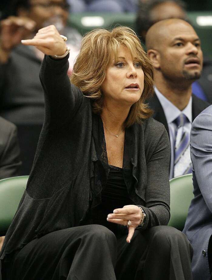 In this photo taken Wednesday, March 30, 2011, Texas Legends head coach Nancy Lieberman instructs her team from the bench during an NBA Development League basketball game against the Springfield Armor in Frisco, Texas. The Legends won 132-112. Photo: Tony Gutierrez, Associated Press