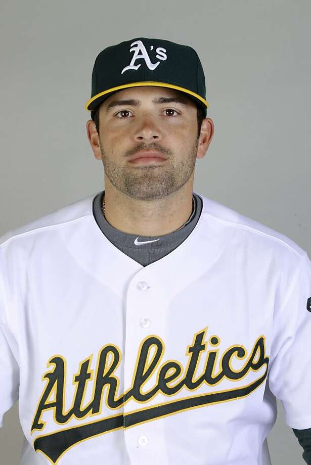 This is a 2011 photo of David DeJesus of the Oakland Athletics baseball team.  This image reflects the Oakland Athletics active roster as of Thursday, Feb. 24, 2011 when this image was taken. Photo: Marcio Jose Sanchez, AP