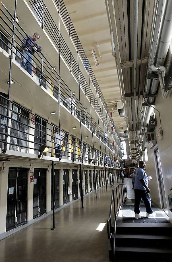 North block, inside San Quentin State Prison, on Friday Mar. 4, 2011, in San Quentin, Ca. California State prison guards and their supervisors, have racked up an astounding 33 million hours of vacation, sick and other paid time off, which could amount to as much as a $1 billion liability for the state. A Senate report warned, a year ago, that mandatory furloughs at a 24-7 agency, would lead to such future burdens. Photo: Michael Macor, The Chronicle