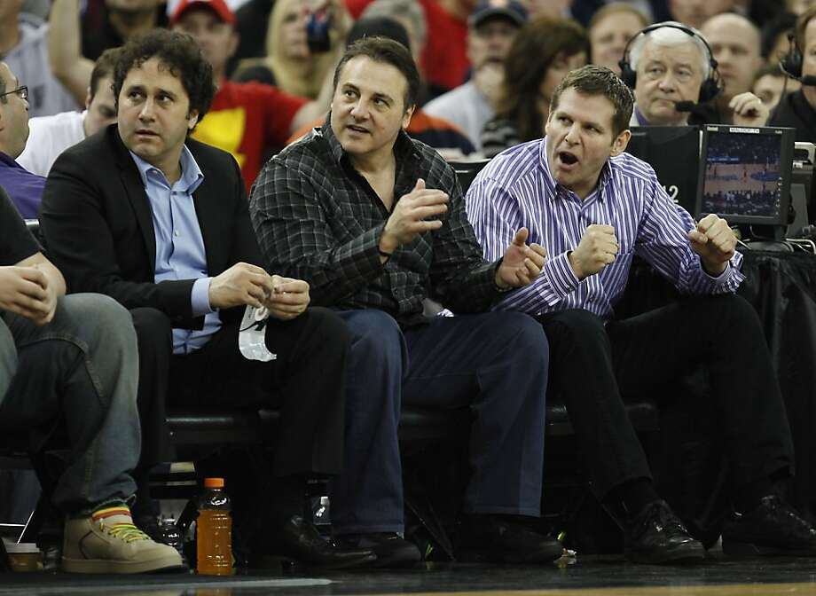 FILE - In this Feb. 28, 2011, file photo, Sacramento Kings owners George, Gavin and Joe Maloof, left to right, sit courtside during a Kings game against the Los Angeles Clippers in Sacramento, Calif. All signs indicate the Kings will move south to Anaheimafter the season, leaving behind a city that was once home to a fervent and faithful fan base unlike any other. Now suddenly, stunningly, Sacramento is on the verge of being wiped off the NBA map. Photo: Steve Yeater, AP