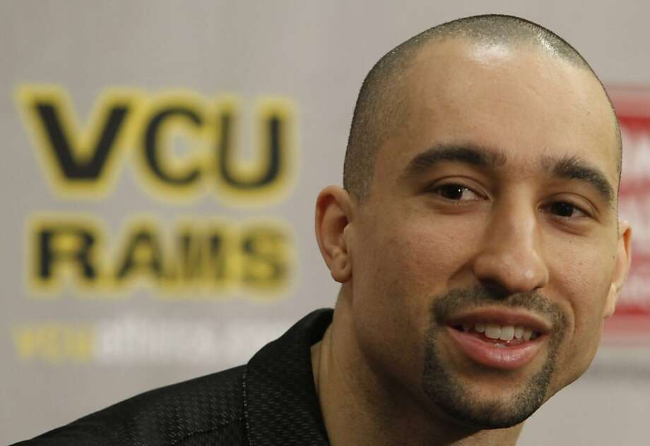 Virginia Commonwealth University head basketball coach Shaka Smart answers questions during a news conference at the school in Richmond, Va., Tuesday, March 29, 2011.  The Rams earned their way to this weekend's semifinals at the Final Four in Houston with a 71-61 victory against mighty Kansas on Sunday in a game that rarely was as close as the final score. Photo: Steve Helber, AP