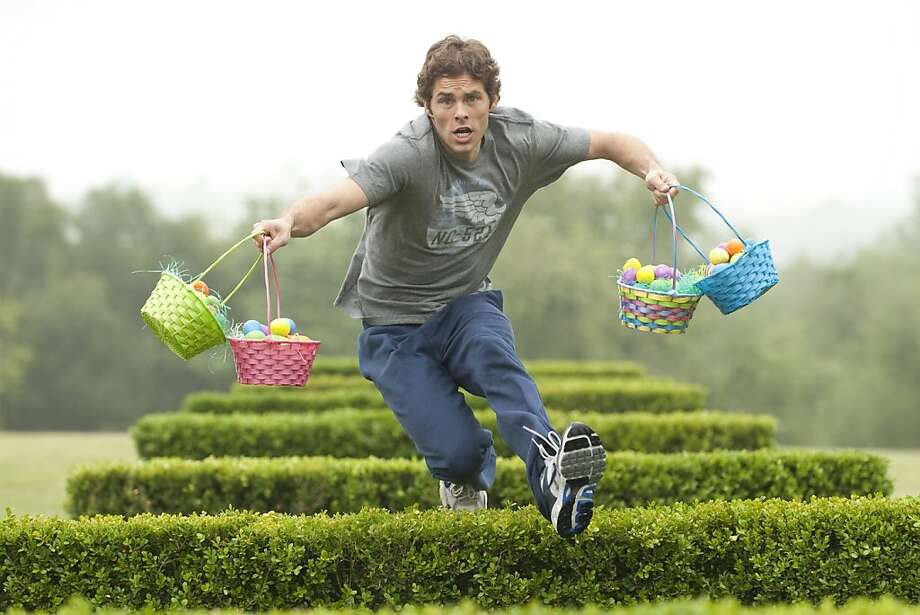 "In this film publicity image released by Universal Pictures, James Marsden is shown in a scene from ""Hop."" Photo: Jaimie Trueblood, AP"