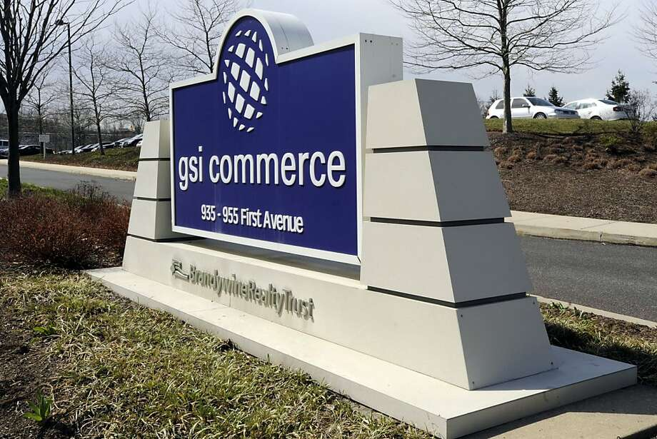 GSI Commerce Inc. signage is displayed outside of the company's office in King of Prussia, Pennsylvania, U.S., on Monday, March 28, 2011. EBay Inc., owner of the largest e-commerce market, agreed to buy GSI Commerce Inc. for about $2.4 billion to add services that help retailers market and distribute their wares. Photographer: Bradley C. Bower/Bloomberg Photo: Bradley C. Bower, Bloomberg