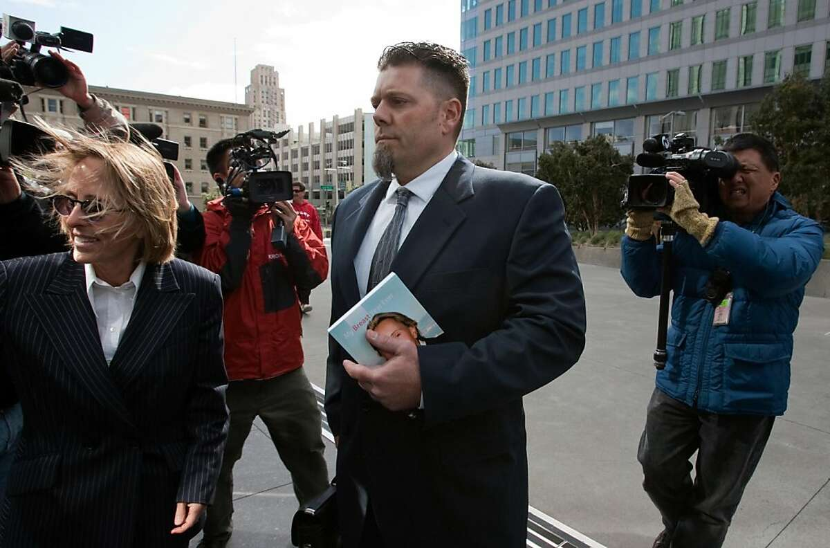 Greg Anderson, the former trainer for Barry Bonds, arrives at the Phillip Burton Federal Building and United States Court House with attorney Paula Canny on March 22, 2011 in San Francisco, Calif. Photograph by David Paul Morris/Special to the Chronicle