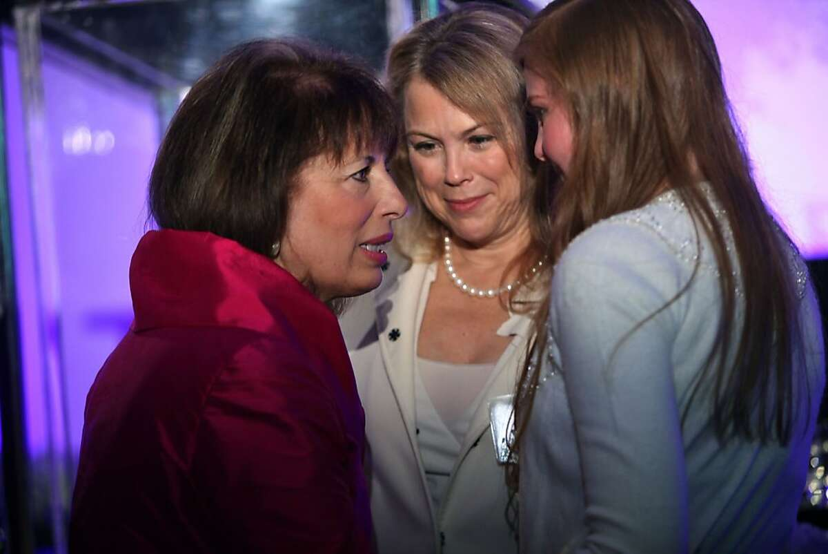 """Congresswoman Jackie Speier talking with attendees at the """"Power of Choice"""" luncheon in San Francisco, Calif., on Monday, March 28, 2011."""