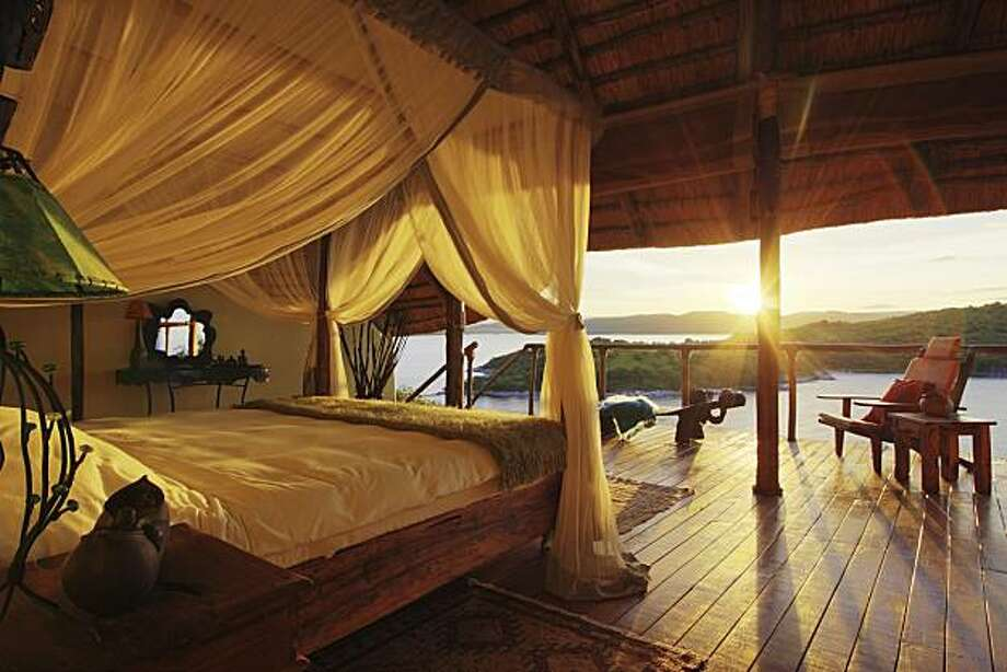 Lupita Island Lodge is a luxury resort on Lake Tanganyika in Tanzania. The lodge is a partnership between Silicon Valley venture capitalist Tim Draper and safari leader Tom Lithgow. The resort opened recently for tourism and costs $1,900 per couple per night. Safari expeditions into national parks are offered, along with meals at the lodge, helicopter sightseeing trips and kayaking on the lake. Photo: Courtesy Lupita Island Lodge