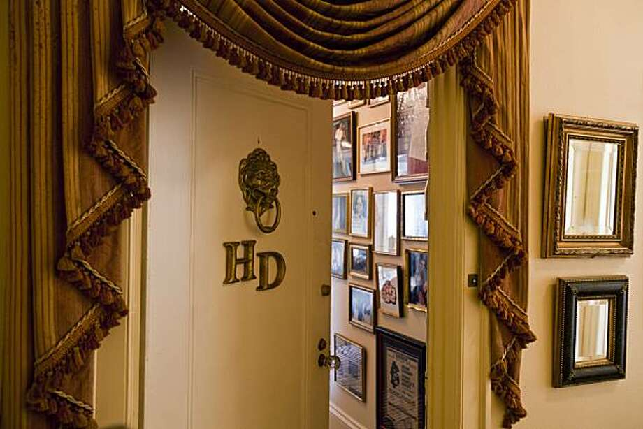 The front door of Harry Denton's flat in San Francisco, California on Mar. 3, 2011. Photo: Peter DaSilva, Special To The Chronicle