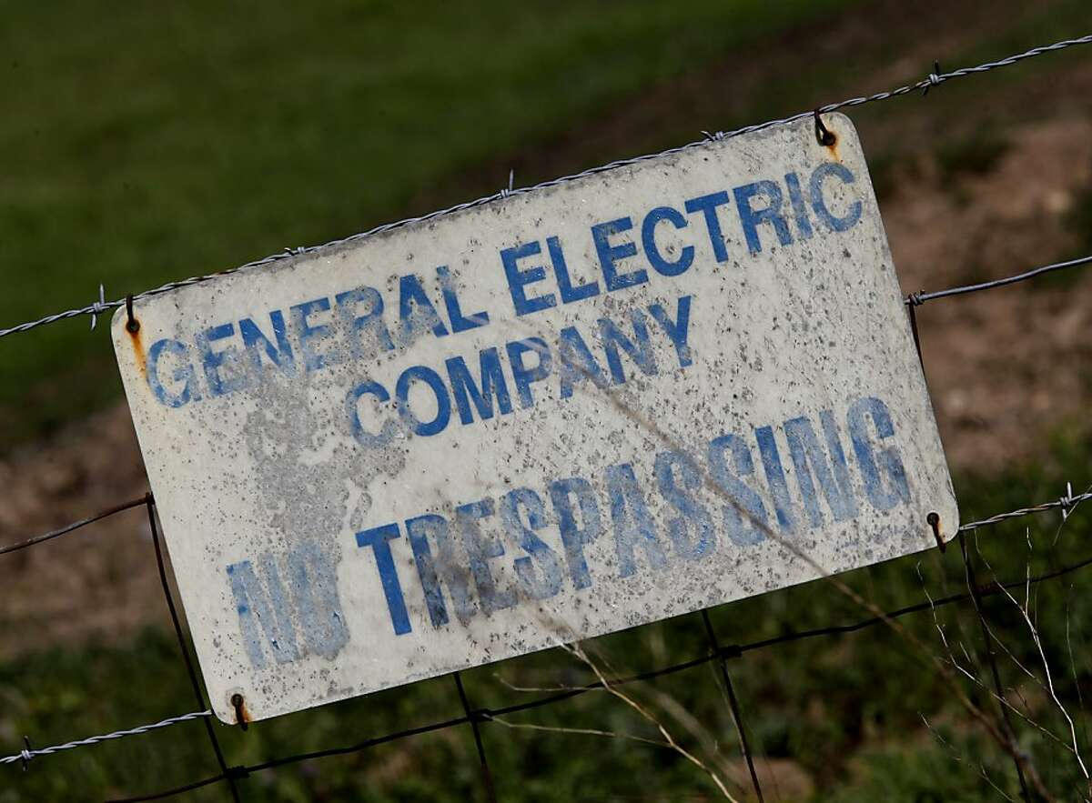 General Electric owns much of the land surrounding the facility and has plenty of No Trespassing signs posted. An older nuclear reactor site, operated by General Electric, sits off highway 84 in the Sunol, Calif. area.