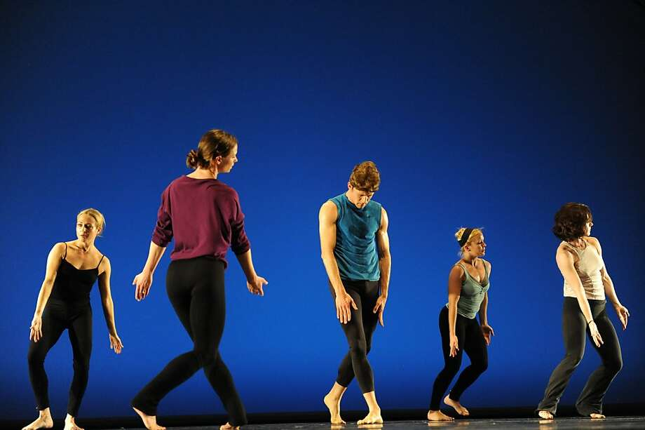 Members of the Paul Taylor Dance Company rehearse at the Yerba Buena Center for the Arts on March 31, 2011. From left are: Jamie Rae Walker, Laura Halzack, James Samson, Aileen Roehl, and Eran Bugge Photo: Susana Bates, Special To The Chronicle