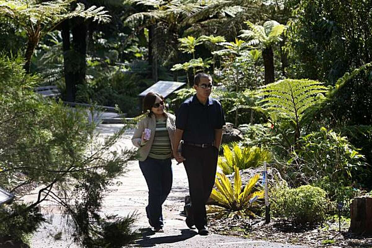 Visitors stroll through the Strybing Arboretum and botanical garden at Golden Gate Park in San Francisco, Calif. on Thursday, Sept. 9, 2010. Last month, Rec and Park officials began charging out-of-town residents a fee to enter the garden and forced city dwellers to provide proof of residency to gain free entry.