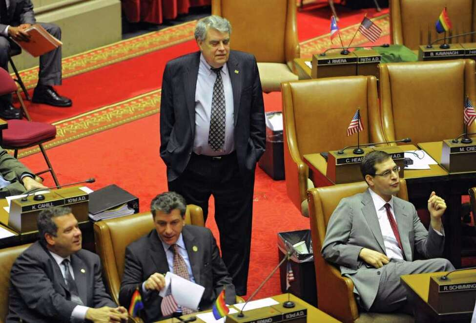 Assemblyman Jack McEneny and other members of the state Assembly wait around for a special session at the Capitol on Wednesday, Dec. 7, 2011 in Albany, N.Y. (Lori Van Buren / Times Union archive)