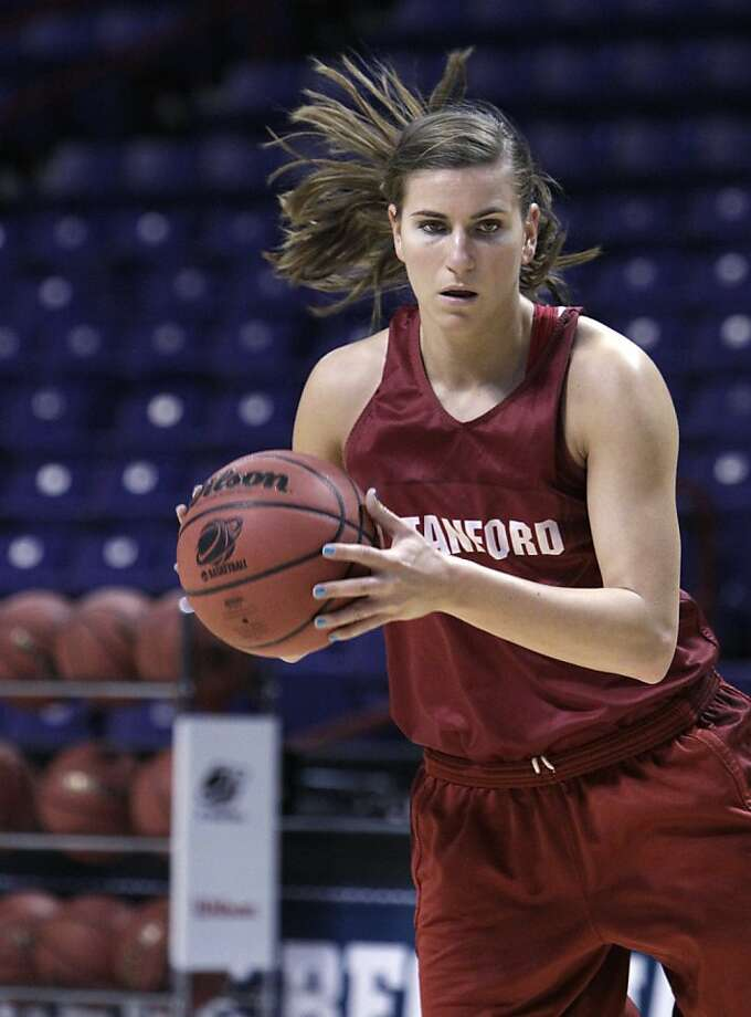 Stanford's Jeanette Pohlen makes a move during practice for an NCAA women's college basketball tournament regional semifinal, Friday, March 25, 2011, in Spokane, Wash. Stanford plays North Carolina Saturday. Photo: Elaine Thompson, AP