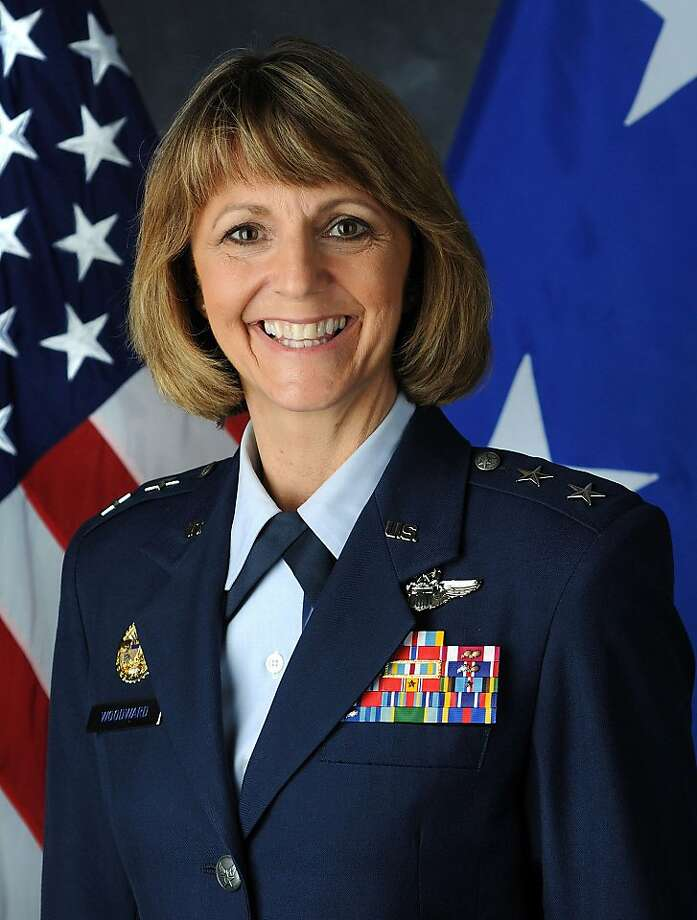Air Force Maj. Gen. Margaret Woodward, 51, is the first woman to lead a combat air campaign. Illustrates LIBYA-WOODWARD (category i), by Peter S. Green (c) 2011, Bloomberg News. Moved Tuesday, March 29, 2011. MUST CREDIT: U.S. Air Force). Photo: U.S. Air Force