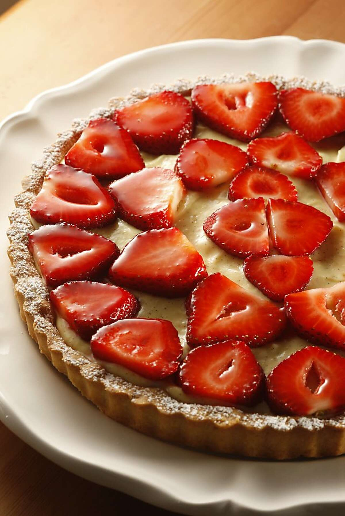 Fresh-as-Spring Strawberry Tart in San Francisco, Calif., on March 26, 2009. Food styled by Shannon Shafer.
