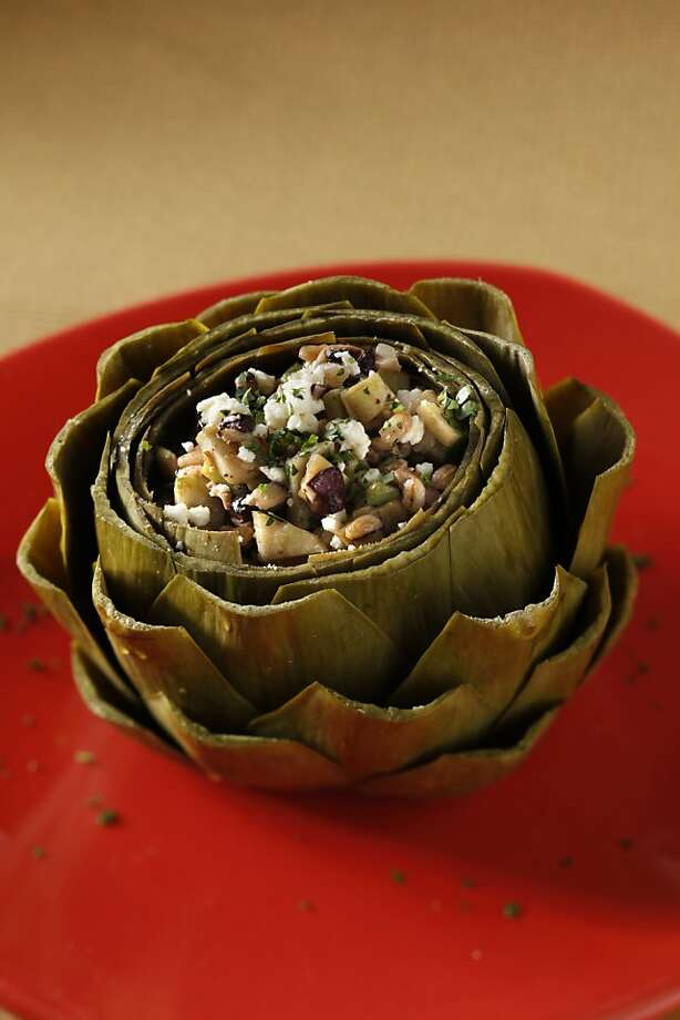 Farro-Stuffe Artichoke in San Francisco, Calif., on April 21, 2010. Food styled by Katie Popoff. Photo: Craig Lee, Special To The Chronicle