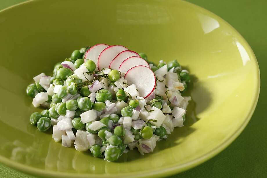Cold Spring Garden Pea Salad in San Francisco, Calif., on April 19, 2010. Food styled by Julia Mitchell. Photo: Craig Lee, Special To The Chronicle