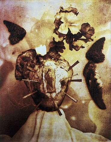 Delilah Montoya, El Sagrado Corazon, 1993. Collotype Lent by the artist. Photo: Contemporary Coda, Oakland Museum Of California