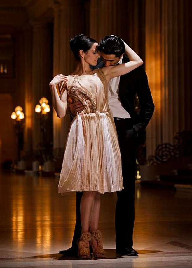 San Francisco Ballet's principal dancers Vanessa Zahorian, modelling a Rodarte, and Davit Karapetyan are seen in the War Memorial Opera House on Friday, Jan. 7, 2011 in San Francisco, Calif.Fashion and Love San Francisco, 2011   **MANDATORY CREDIT FOR PHOTOG AND SF CHRONICLE/NO SALES/MAGS OUT/TV OUT/INTERNET: AP MEMBER NEWSPAPERS ONLY** Photo: Russell Yip, The Chronicle
