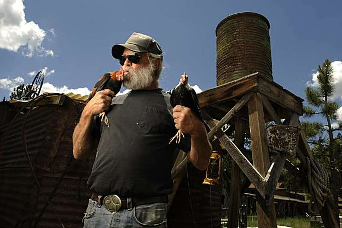 For 25 years the town of Guffey, CO, Bill Soux has thrown the Guffey Chicken Fly Festival over the fourth of July weekend.