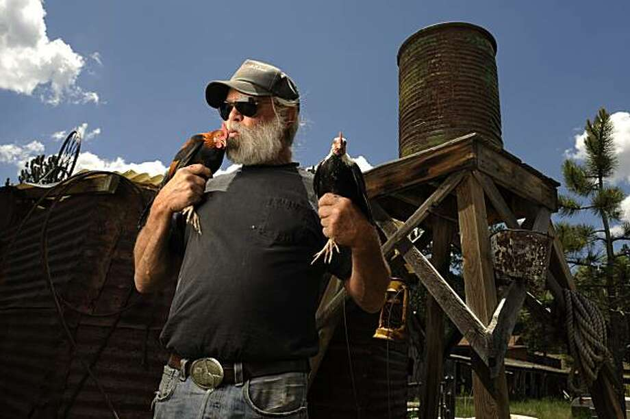 For 25 years the town of Guffey, CO, Bill Soux has thrown the Guffey Chicken Fly Festival over the fourth of July weekend. Photo: Judy Walgren, The Chronicle