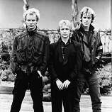 A promotional portrait of the British rock band The Police (from left): Sting, Andy Summers, and Stewart Copeland, circa 1980..