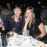 9th May 1980: Paul and Linda McCartney attending the Ivor Novello awards at Grosvenor House Hotel in London..
