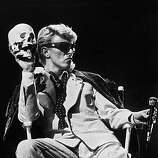 British singer David Bowie performs on stage in Brussels on May 20, 1983..