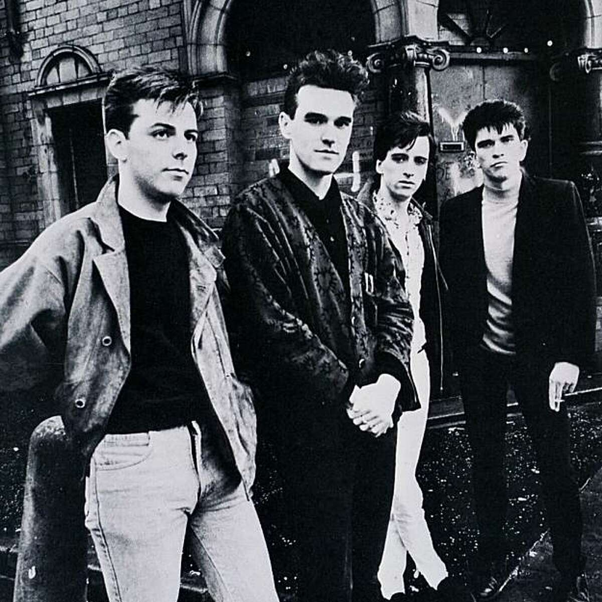 The Smiths, from left, bassist Andy Rourke, singer Morrissey, guitarist Johnny Marr, drummer Mike Joyce. The group allowed PETA to use their hit song