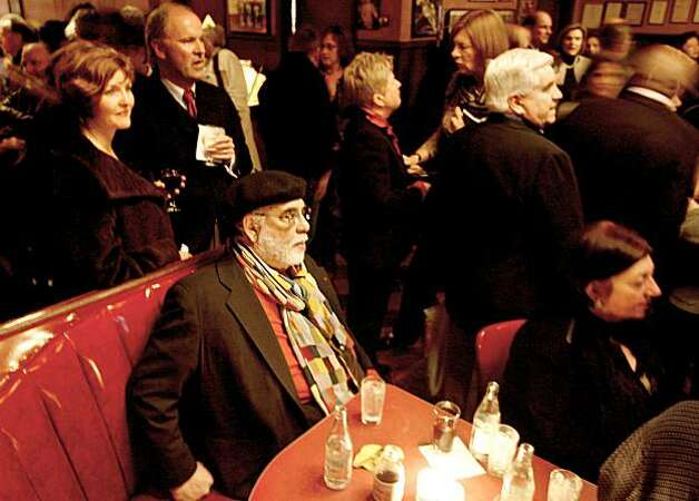 Francis Ford Coppola sits in a booth at a celebration at Tosca, a bar in North Beach owned by Jeanette Etheredge, to remember Armen Bali, a San Francisco restauranteur and arts maven who helped Russian dancers and other artists. These pictures were made in San Francisco, CA.  on Wednesday, Jan. 9, 2008. Photo: Katy Raddatz, The Chronicle