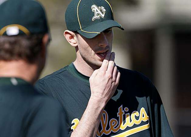 A's pitcher Brandon McCarthy, a right handed pitcher. The Oakland Athletics held their second workout of the spring mostly for pitchers and catchers Thursday February 17, 2011 at Phoenix Stadium. Photo: Brant Ward, The Chronicle