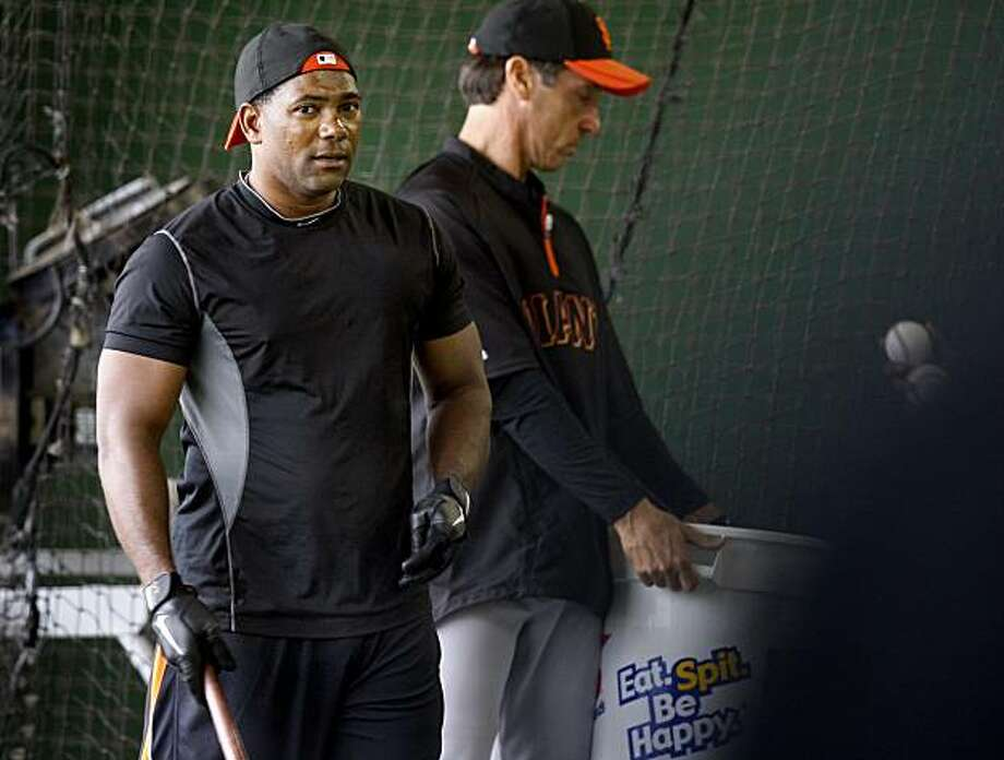 The Giants Miguel Tejada arrived at camp and did some batting practice. The San Francisco Giants worked out at Scottsdale Stadium Friday February 18, 2011. Photo: Brant Ward, The Chronicle