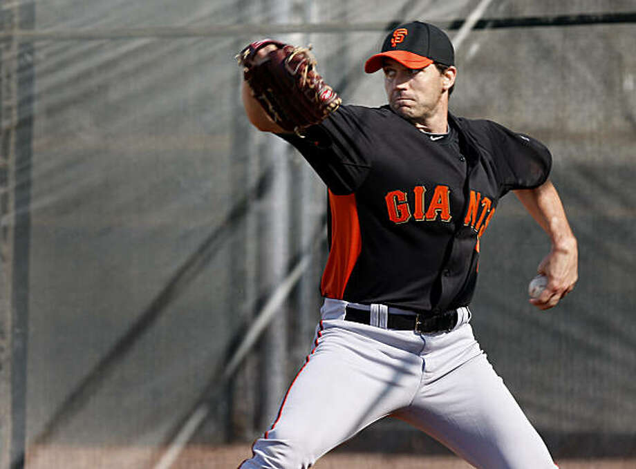 Barry Zito threw for the first time this spring. The 2010 World Champion San Francisco Giants held their first workout of the spring at Scottsdale Stadium Tuesday February 15, 2011. Photo: Brant Ward, The Chronicle