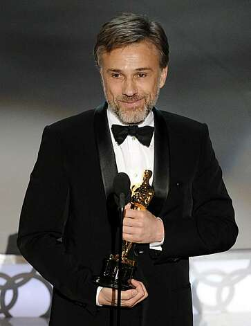 Christoph Waltz accepts the Oscar for best performance by an actor in a supporting role for ?Inglourious Basterds? at the 82nd Academy Awards Sunday, March 7, 2010, in the Hollywood section of Los Angeles. Photo: Mark J. Terrill, AP