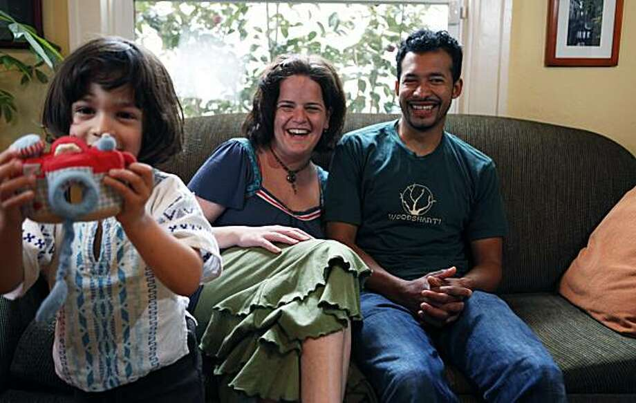 Anat Shenker-Osorio and her husband Donaldo Osorio   are celebrating eight years of marriage in their North Oakland home with their three year old son Shai. Saturday March 6, 2010 Photo: Lance Iversen, The Chronicle