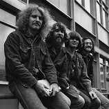1st April 1970: American rock group Creedence Clearwater Revival in London, April 1970. From left to right, Tom Fogerty, Doug Clifford, John Fogerty and Stu Cook.