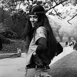 Popular American singer, half Native American Cherokee, all hippie Rita Coolidge in Hyde Park, London, at the start of her tour of England. She will be appearing with Californian psychedelic folk-country-rock group The Byrds.