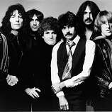Promotional studio portrait of American rock group Jefferson Starship, 1970s. L-R: Aynsley Dunbar, Pete Sears, David Freiberg, Mickey Thomas, Craig Chaquico and Paul Kantner.