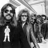 18th October 1977: American rock singer and songwriter Bob Seger and his Silver Bullet Band, Drew Abbott, Robyn Robbins, Alto Reed, Chris Campbell and Charlie Allen Martin, in London, for their first British tour.