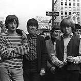 British rock group The Rolling Stones in New York. From left to right: Mick Jagger, Keith Richards, Charlie Watts, Brian Jones (1942 - 1969), and Bill Wyman..