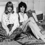 Rolling Stone Keith Richards and his girlfriend Anita Pallenberg, 9th December 1969..