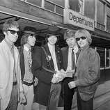 4th August 1966: The English psychedelic blues band the Yardbirds, (from left) Jim McCarty, Jeff Beck, Jimmy Page, Chris Dreja and lead singer Keith Relf..