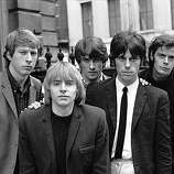 13th April 1965:  British rhythm and blues group The Yardbirds, from left to right; Chris Dreja (rhythm guitar), Keith Relf (vocals, harmonica), Jim McCarty (drums), Jeff Beck (lead guitar) and Paul, or 'Sam', Samwell-Smith (bass guitar). They plan to tour with the Kinks at the end of April and hope that their next single, 'Heartful Of Soul' out in June, is as successful as their current hit 'For Your Love', recorded with previous lead guitarist, Eric Clapton.  (Photo by John Pratt/Keystone Features/Getty Images)
