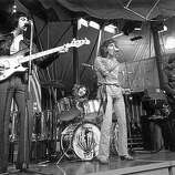 "10th December 1968: British rock group The Who performing at the Rolling Stones' ""Rock And Roll Circus"" event, a performance at Internel Studios in Stonebridge Park, Wembley, devised to be filmed for television.."