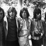 14th June 1969: British rock band the Rolling Stones in 1969, after the death of founder member Brian Jones. They are, from left to right; drummer Charlie Watts, new member guitarist Mick Taylor, vocalist Mick Jagger, guitarist Keith Richards and bass player Bill Wyman..