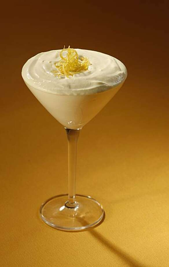 Lemon mousse in San Francisco, Calif., on February 12, 2009. Food photo Shannon Shaffer. Photo: Craig Lee, The Chronicle