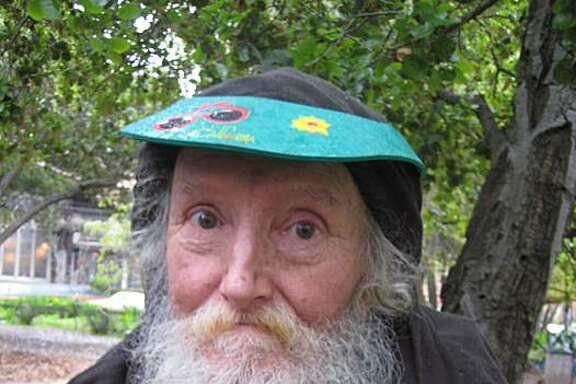 The Hate Man, 73, has been a well-known homeless character for more than two decades on Telegraph Avenue in Berkeley.