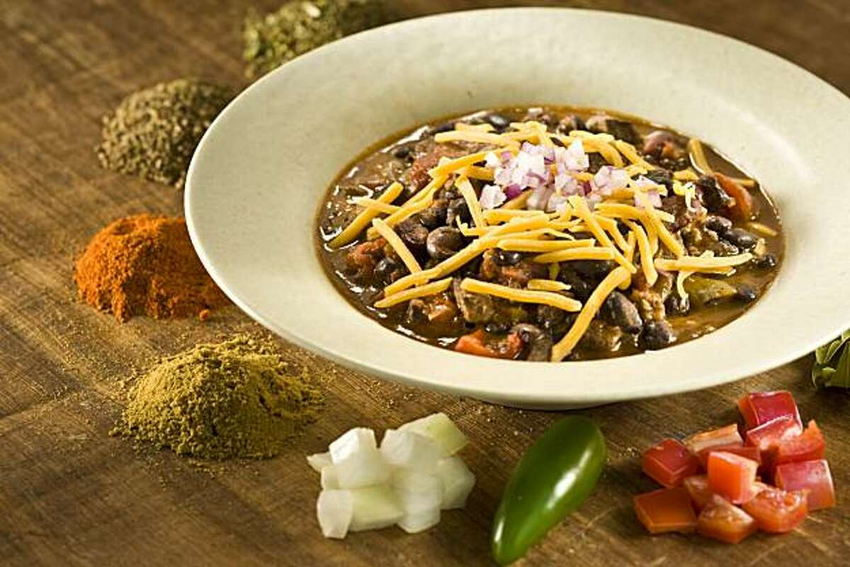 Chili in San Francisco, Calif., on October 1, 2008. Food styled by Cindy Lee.